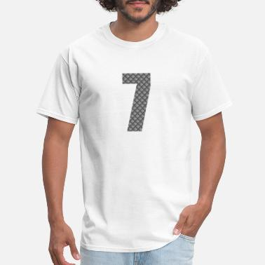 Chinese Lucky Number Lucky Number 7 with Lucky Chinese Character - Men's T-Shirt