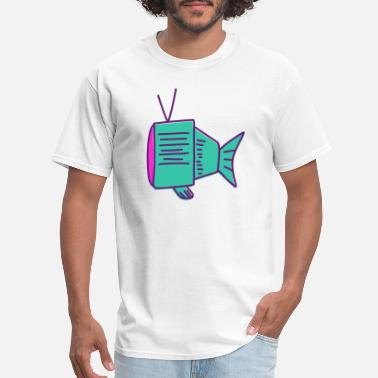 Fish Head fish tv head - Men's T-Shirt