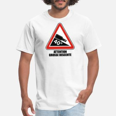Descent Sport Warning descent - Men's T-Shirt