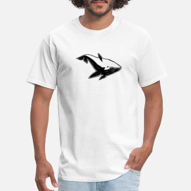 Beached Whale A whale under the water - rubber stamp - Men's T-Shirt
