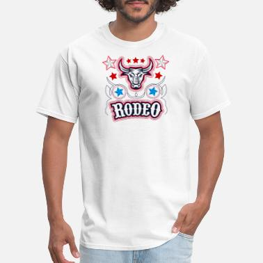 Cow Rodeo Rodeo Buffalo Cow Logo - Men's T-Shirt