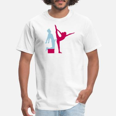 Sex Stick Figure Yoga figure fitness splits sexy girl female hot cu - Men's T-Shirt