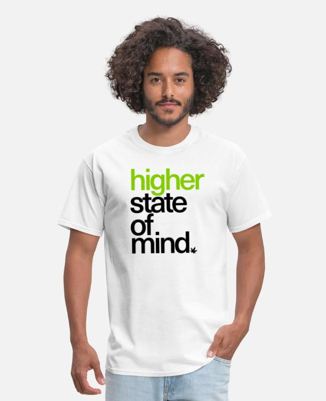 High T-Shirts - Higher State of Mind. - Men's T-Shirt white