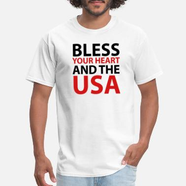 Bless Bless Your Heart and the USA - Men's T-Shirt