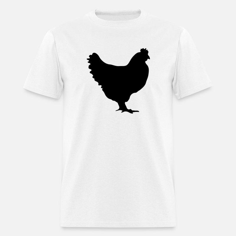 4239b4a32 Chicken Hen 1c Men's T-Shirt | Spreadshirt