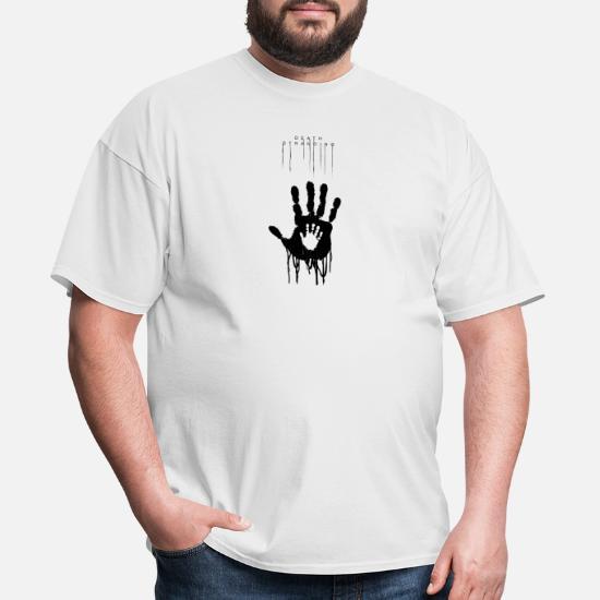 dc52475ee1 Snake T-Shirts - DEATH STRANDING Hand Design - Men's T-Shirt white