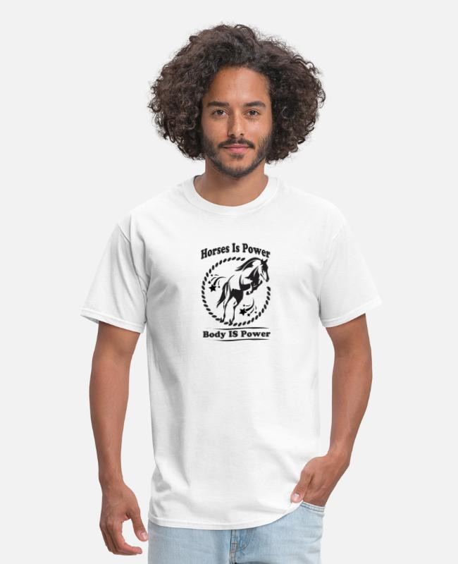 Riding T-Shirts - Horses Power Force Energy Strength Rider riding - Men's T-Shirt white