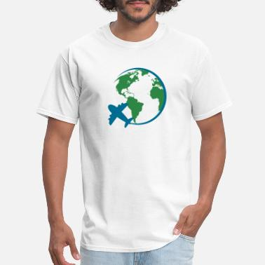 Traveler world travel - Men's T-Shirt
