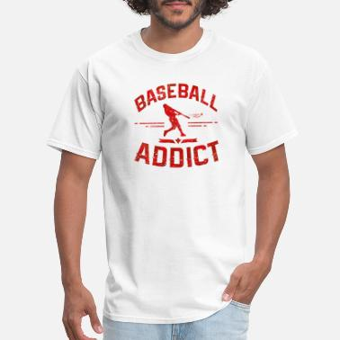 Baseball Addict baseball addict red - Men's T-Shirt