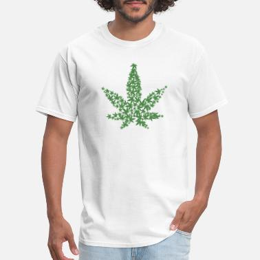 Rausch hanf cannabis kiffen marijuana hemp grass gras14 - Men's T-Shirt