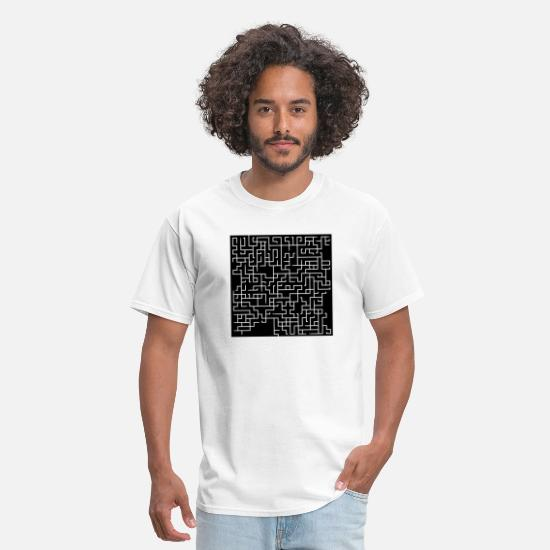 Checkmate T-Shirts - labyrinth maze puzzle brain gehirn denksport iq7 - Men's T-Shirt white