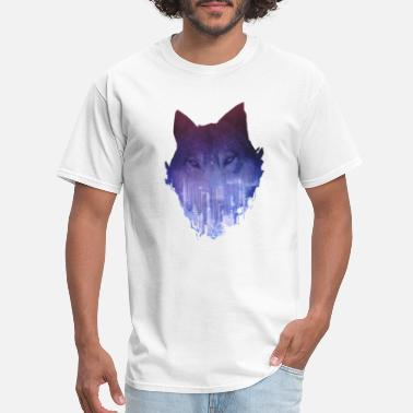City Wolf City Wolf Double Exposure - Men's T-Shirt