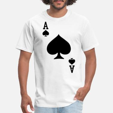 Baby Ace Ace of Spades Playing Card Halloween Costume baseb - Men's T-Shirt