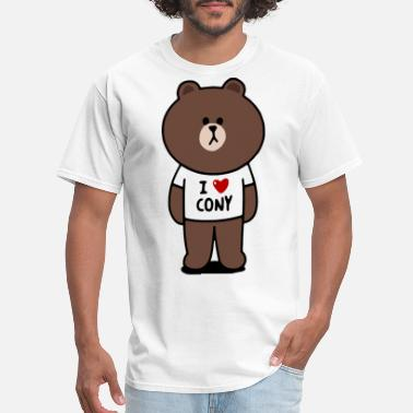 Brown Funny Cartoon 2005321 Brown - Men's T-Shirt