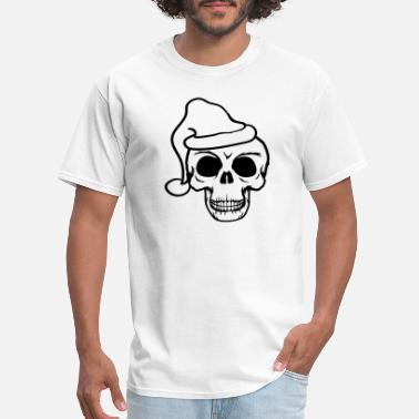 Scary cool skull christmas santa claus skeleton dead dea - Men's T-Shirt