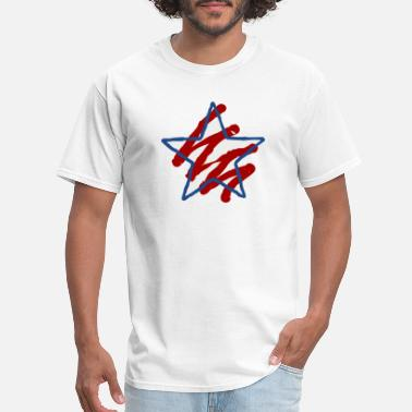 Red White And Blue Red White and Blue star - Men's T-Shirt
