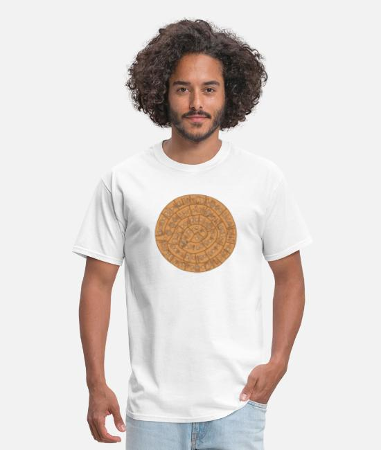 Greece T-Shirts - Phaistos disc - Greece - Men's T-Shirt white