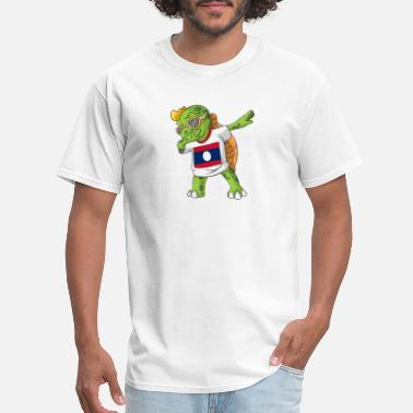 Laos Laos Dabbing Turtle - Men's T-Shirt