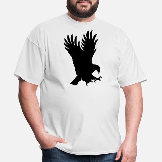 Eagle 100/% cotton Mens Shirt Swooping Bird of Pray Tribal design falcon T-Shirt