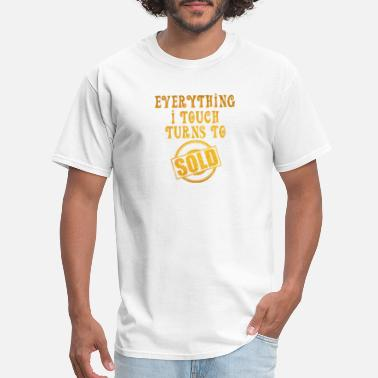 Commercial Designer Girl Everything I Touch Turns to Sold Real Estate Agent Broker - Men's T-Shirt