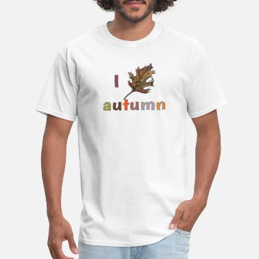 Martina Autumn leaves design autumn - Men's T-Shirt