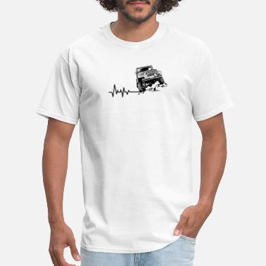 Heartbeat Funny Novelty Gift For Jeep Lover - Men's T-Shirt