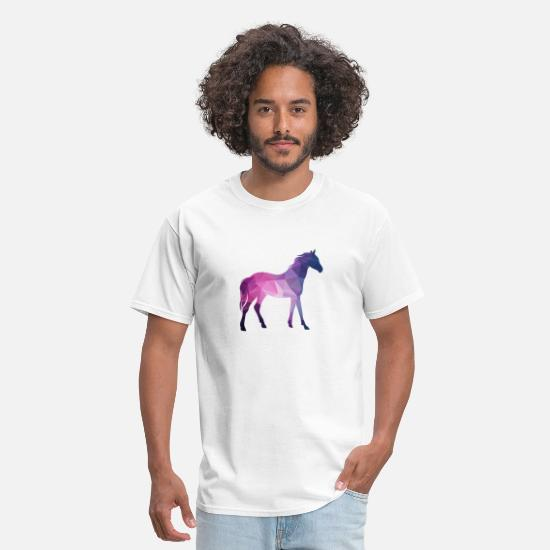 Love T-Shirts - 3D Horse - Men's T-Shirt white