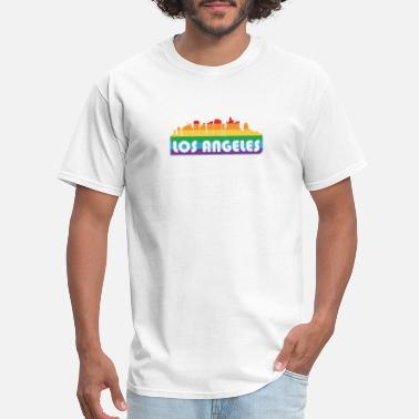 Human Pride LGBT Flag Los Angeles Shirt Love Support Equality - Men's T-Shirt