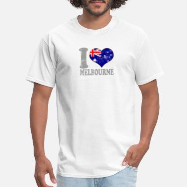 Melbourne Kids I Love Melbourne Australia Australian Flag Pride - Men's T-Shirt