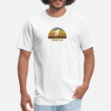 Gear Bike Vintage Whistler Canada Canadian Sunset Ski Cool - Men's T-Shirt