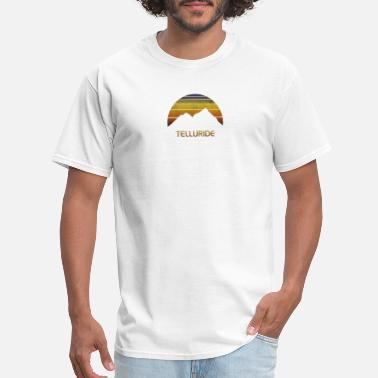 Snowboard Vintage mountain sunset design for men and women. - Men's T-Shirt