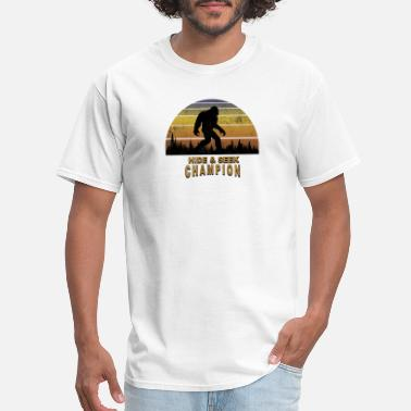 Foot Print Big Foot Hide And Seek Champion Funny Sasquatch - Men's T-Shirt