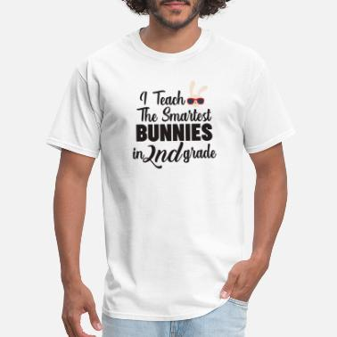 Primary I Teach The Smartest Bunnies In Second Grade - Men's T-Shirt