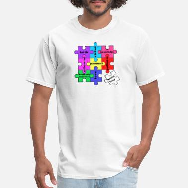 Jesus Puzzles Fruitful Living Puzzle - Men's T-Shirt