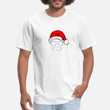 Santa Mustache Santa with Geek and Mustache - Men's T-Shirt