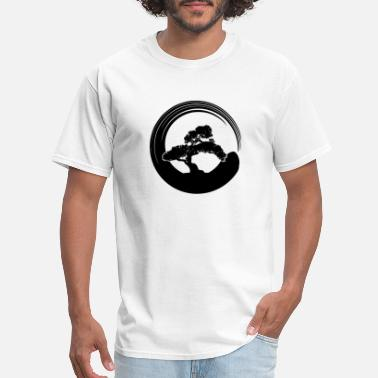 Enso Bonsai Tree in Enso Circle - Men's T-Shirt