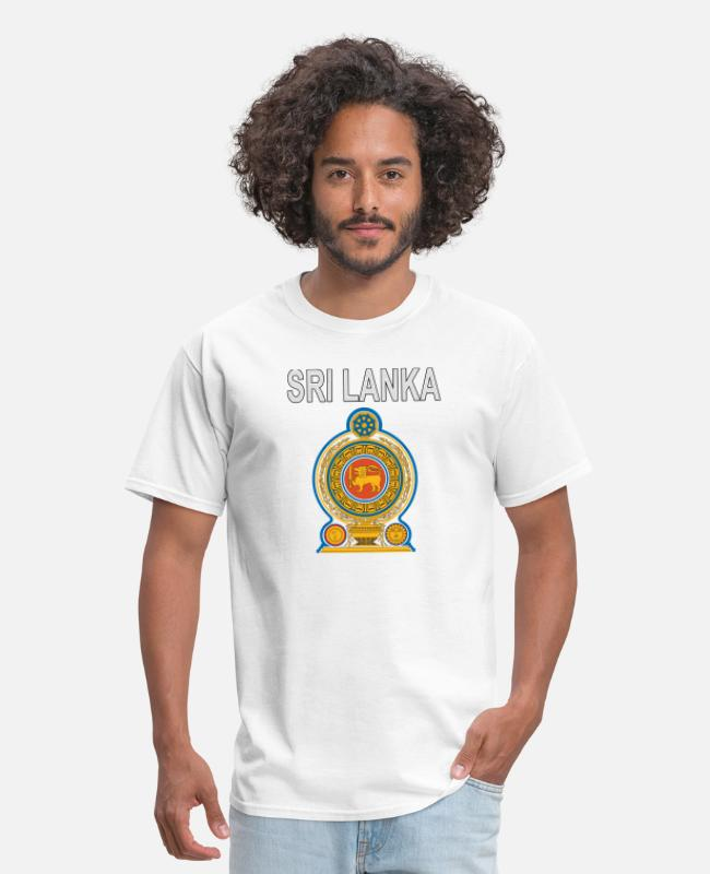 Crest T-Shirts - Sri Lanka crest - Men's T-Shirt white