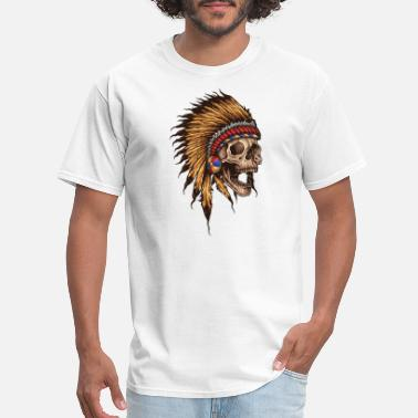 Heavy Metal native american skull - Men's T-Shirt