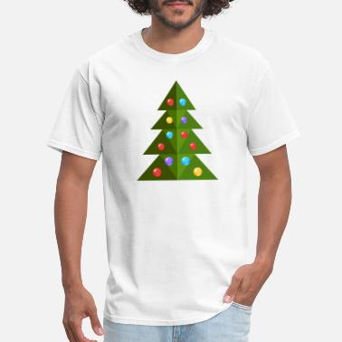 Spruce Christmas tree cool spruce New Year vector image - Men's T-Shirt