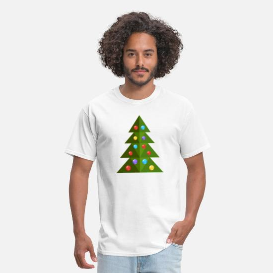 Image T-Shirts - Christmas tree cool spruce New Year vector image - Men's T-Shirt white