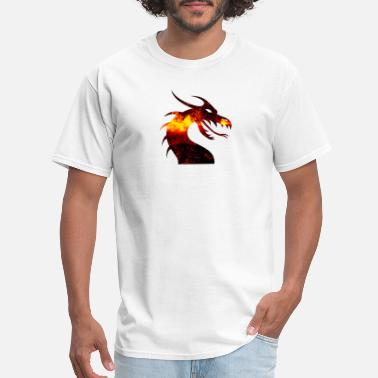 Fire Dragon dragon on fire - Men's T-Shirt