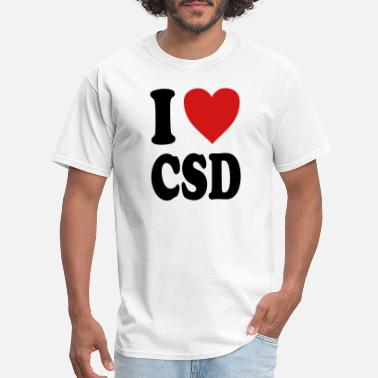 Csd I love CSD (variable colors!) - Men's T-Shirt
