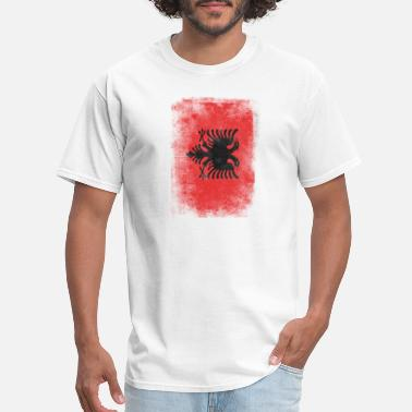 Grudge Flag Design Albania Flag Proud Albanian Vintage Distressed - Men's T-Shirt