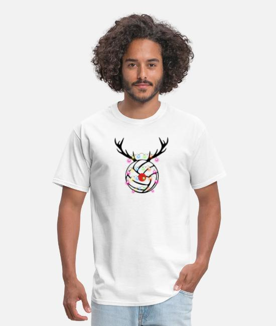Volleyball T-Shirts - Reindeer Volleyball - Men's T-Shirt white