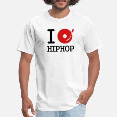 Record I dj / play / listen to hiphop - Men's T-Shirt