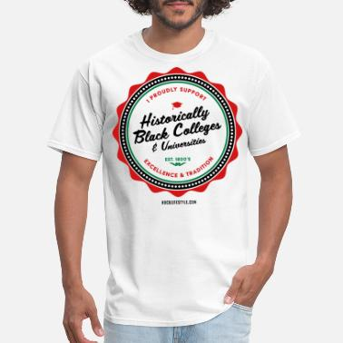 Hbcu Pride I Proudly Support HBCUs - Men's Red, Black, Green  - Men's T-Shirt