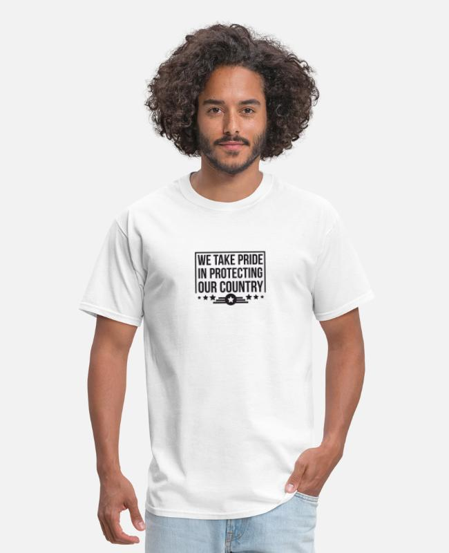 Airforce T-Shirts - We Take Our Pride In Protecting Our Country - Men's T-Shirt white