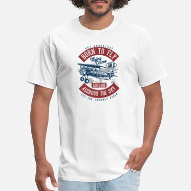 Vintage Airplane Born To Fly 2 - Men's T-Shirt