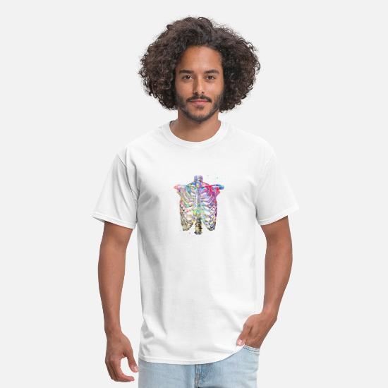 Watercolor T-Shirts - Rib Cage - Men's T-Shirt white