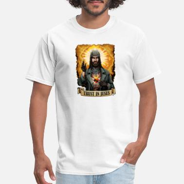 Trust Jesus Trust In Jesus Walking Dead T shirt - Men's T-Shirt